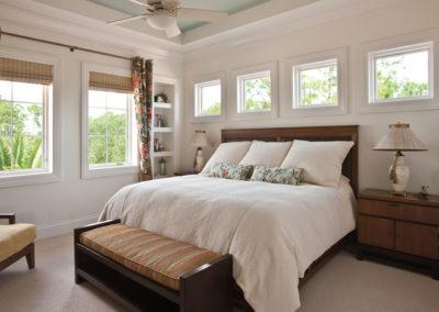 Pella wood white bedroom